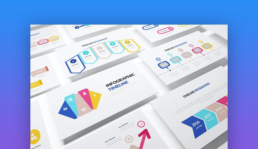 Infographic PowerPoint online presentation mode