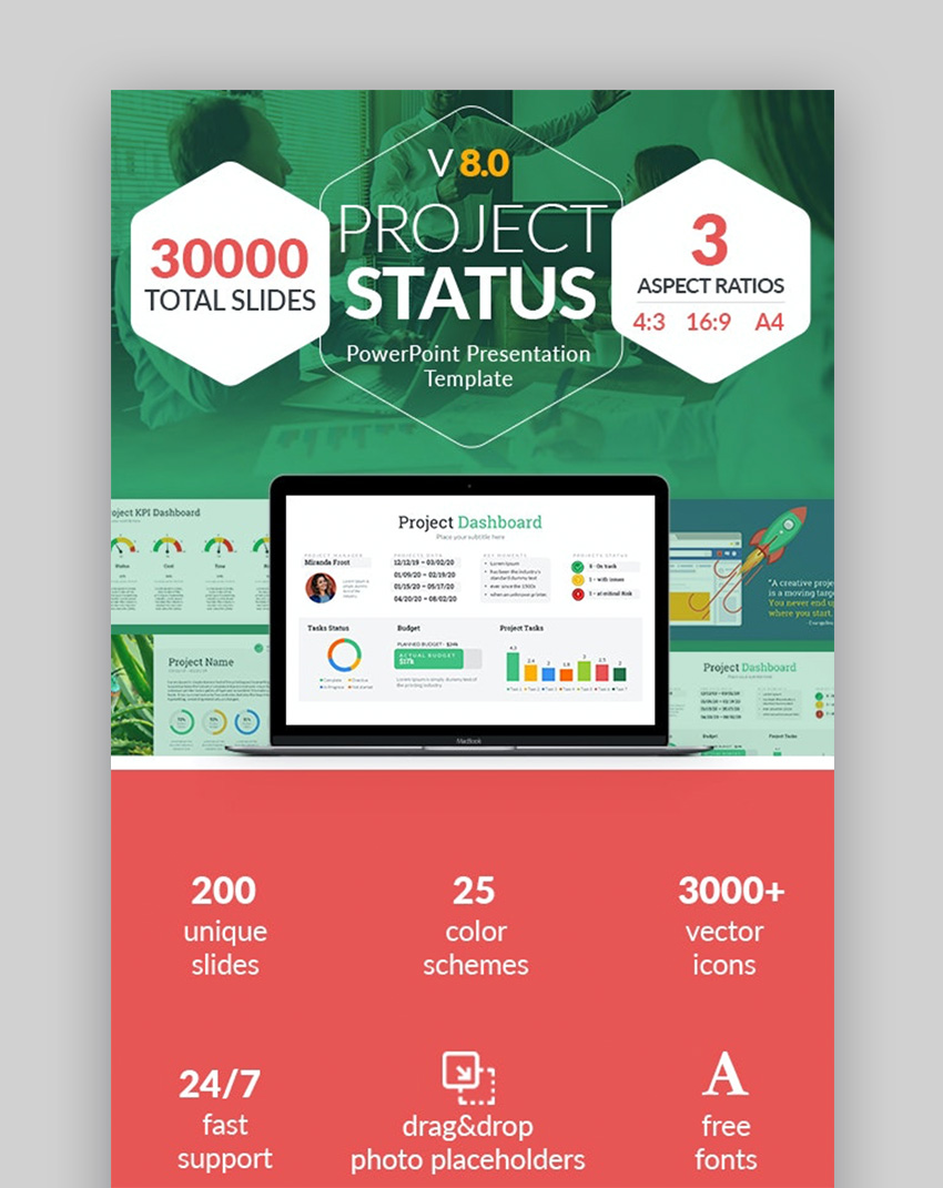 Project status cool PowerPoint ideas
