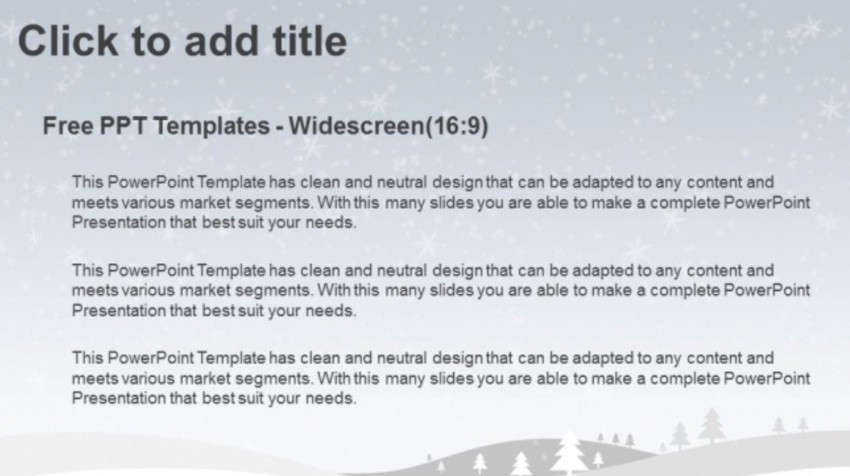 Free winter PowerPoint templates