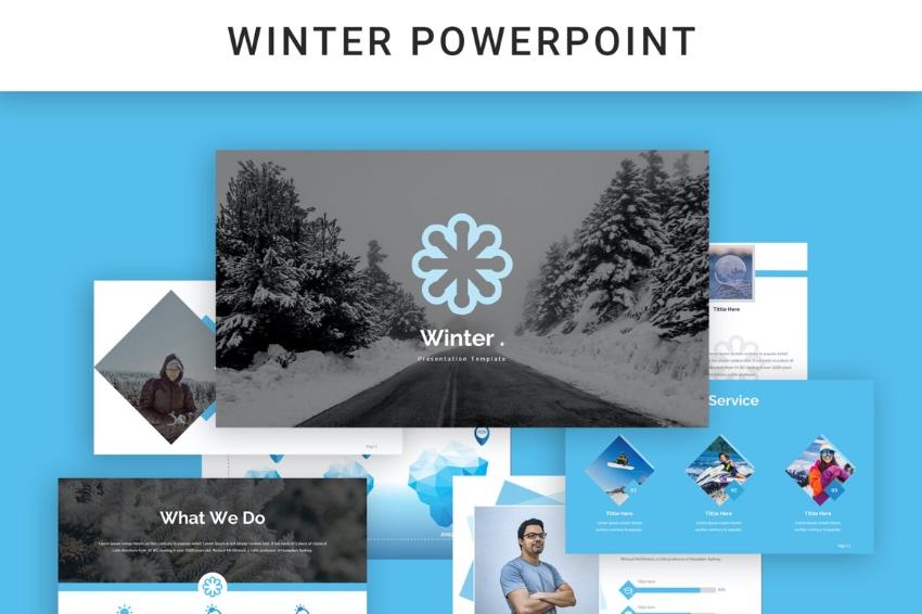 PPT Winter PowerPoint background