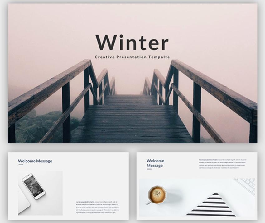 Winter template free