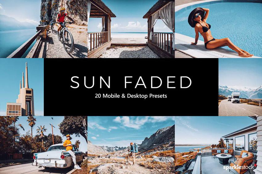 Sun faded Lightroom presets