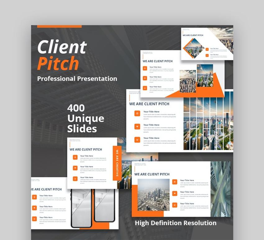 Client pitch presentation template
