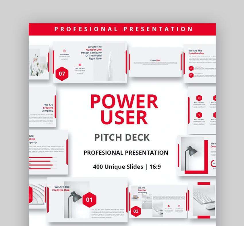Power user pitch presentation