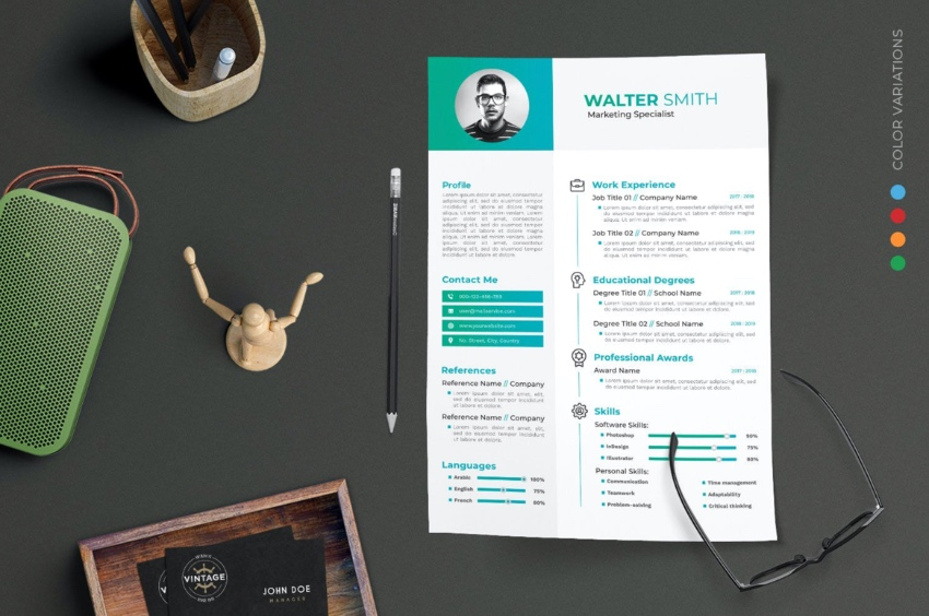 Personal modern resume template
