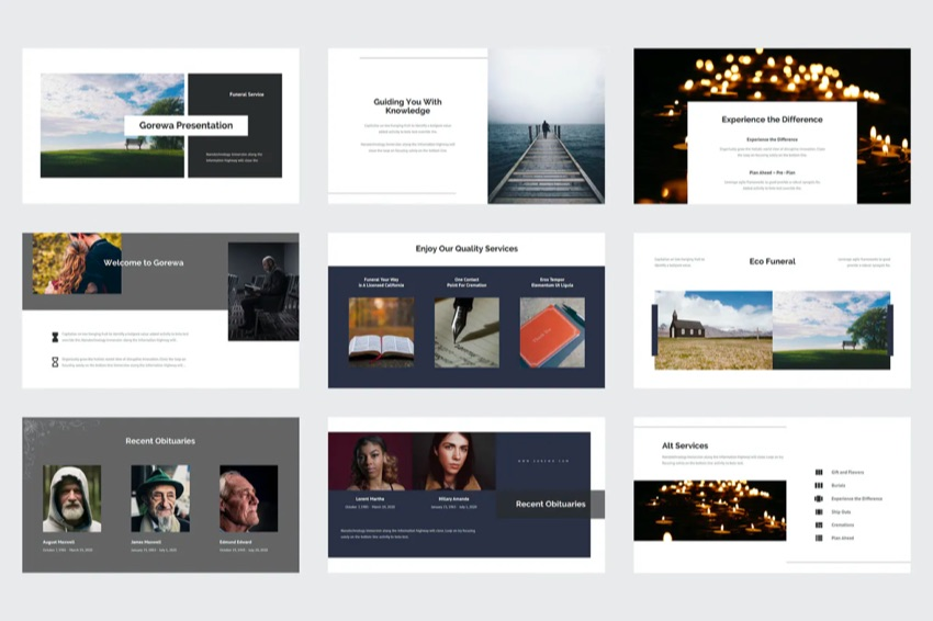 25 Best Free Funeral & Memorial PowerPoint PPT Templates to Download 2021