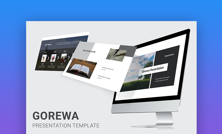 Funeral PowerPoint template