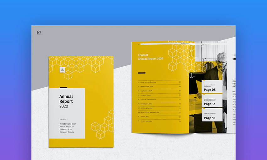 Adobe InDesign annual report templates
