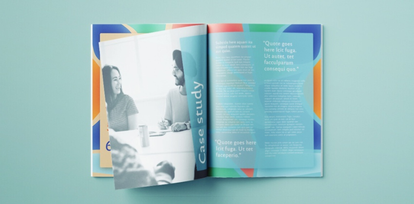 Annual report cover page design templates free download