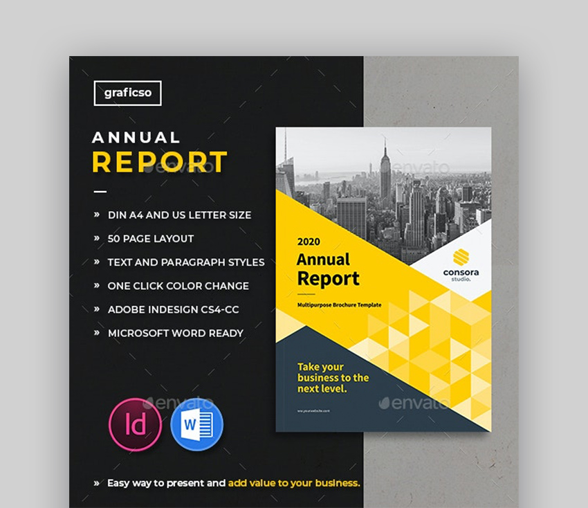 InDesign annual report templates