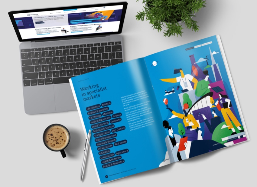 Informa InDesign annual report templates free download