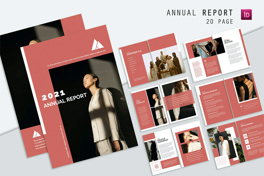 Stylish fonts annual report