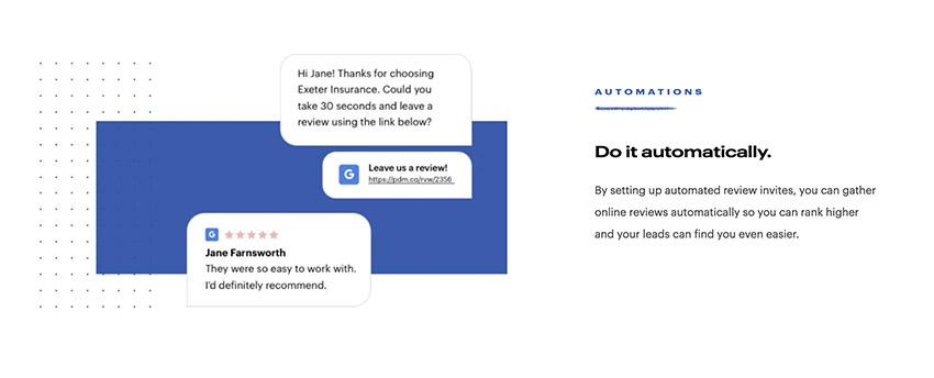 Reviews automation Podium