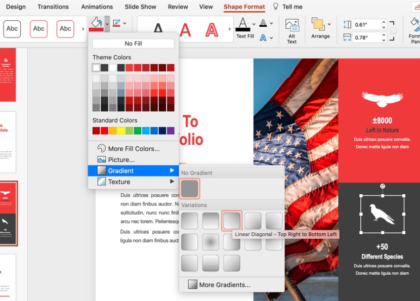 Colorful patriotic PowerPoint background