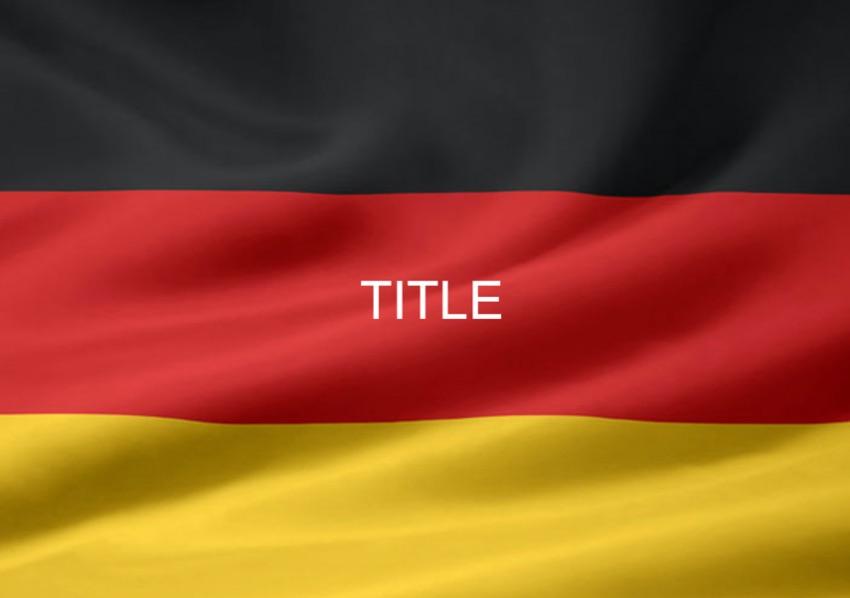 Germany patriotic PowerPoint template