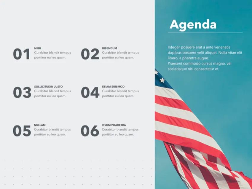 Intro patriotic PPT template