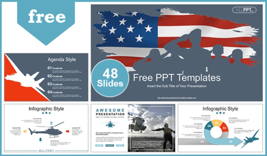 Military patriotic PowerPoint template