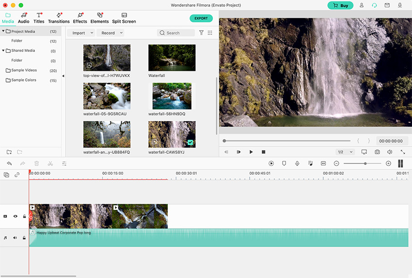 Clips on timeline Filmora Tutorial