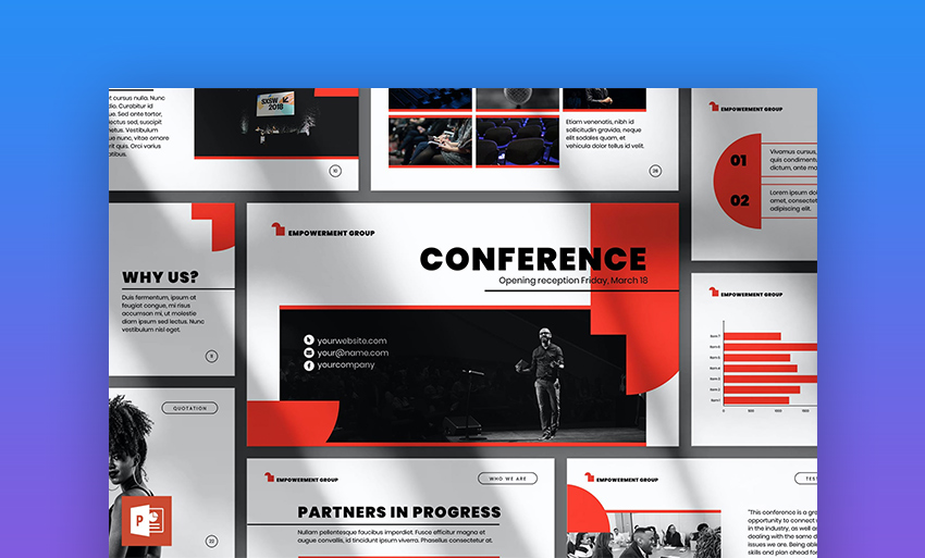 Conference PowerPoint cover page