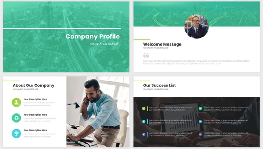 Company presentation flyer templates free