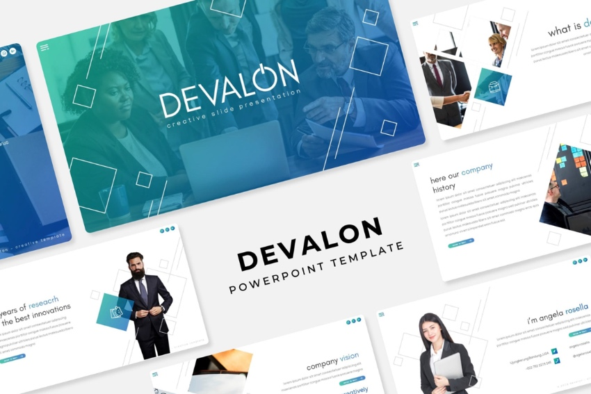 Devalon PowerPoint flyer templates