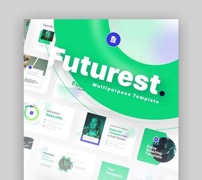Futurest create flyer in PowerPoint