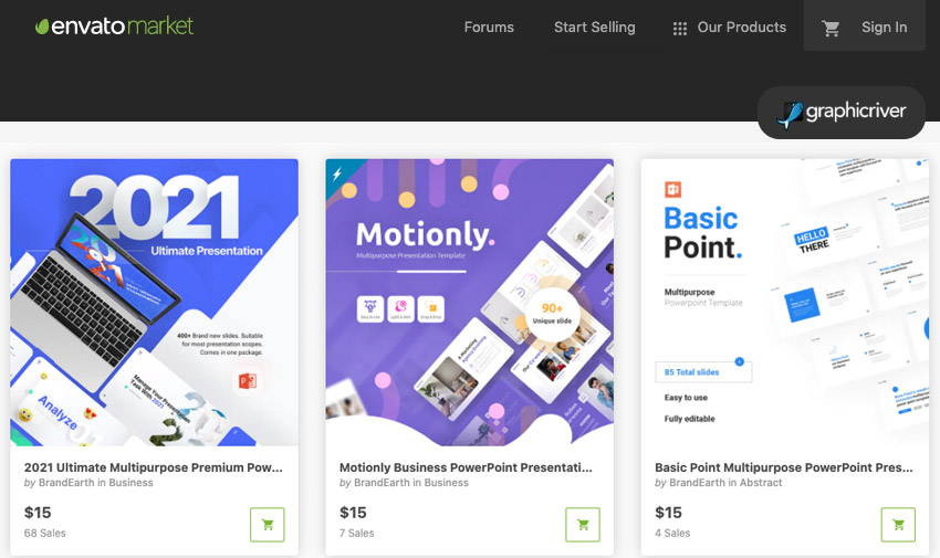 GraphicRiver PowerPoint flyer templates