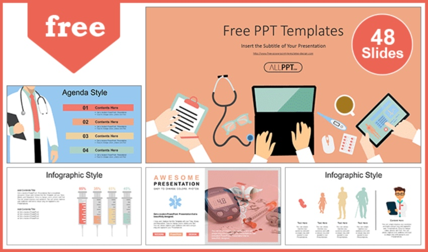 Medical PowerPoint flyer templates
