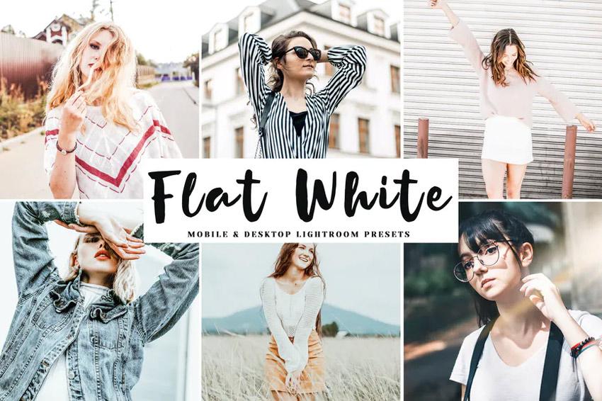 Flat white Lightroom presets