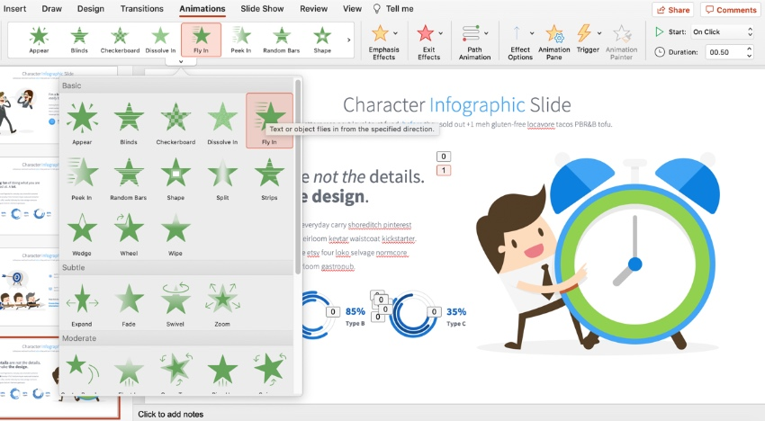 Add animated characters for PowerPoint