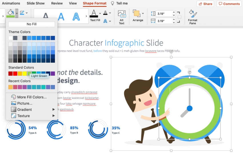 Colorful PowerPoint characters