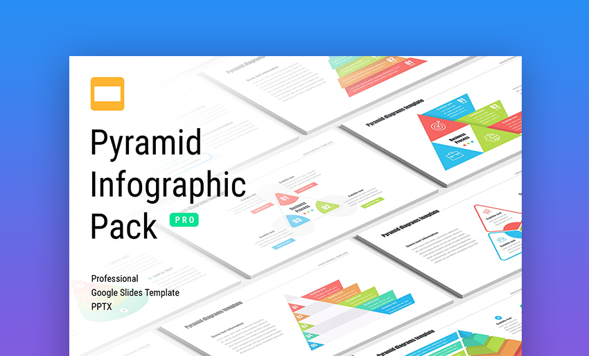 Pyramid infographic template Google Docs