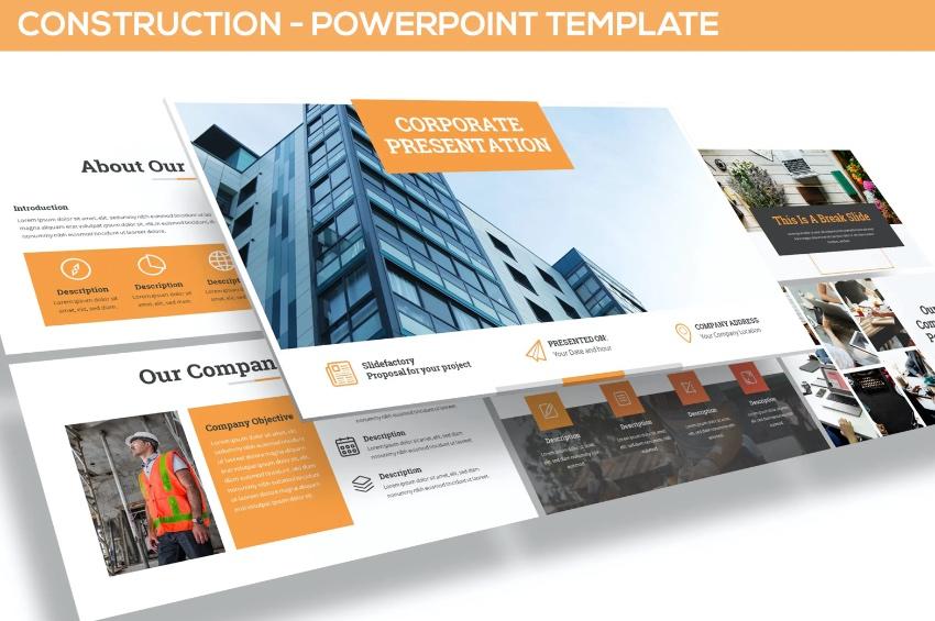 Construction project presentation PPT
