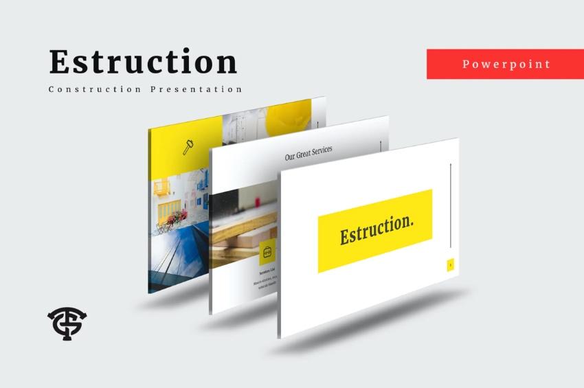 Minimalist construction project presentation PPT