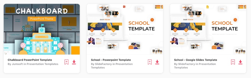Elements whiteboard PowerPoint template
