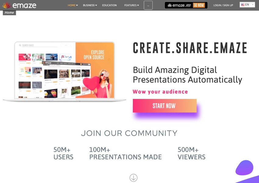 Emaze best PowerPoint alternatives