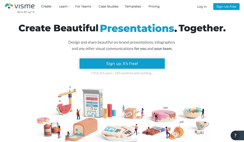 Visme presentation making software