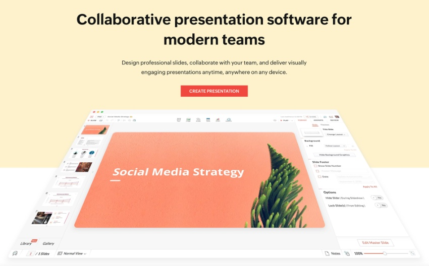 Zoho best presentation software