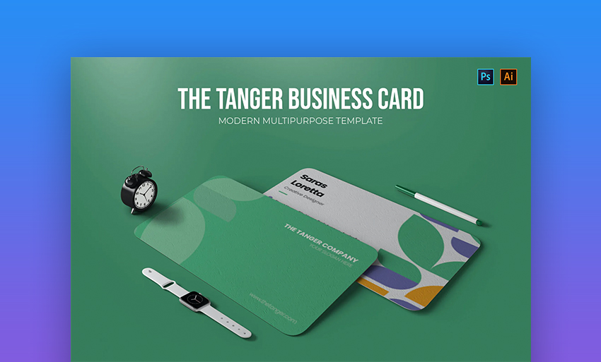 The tanger business card
