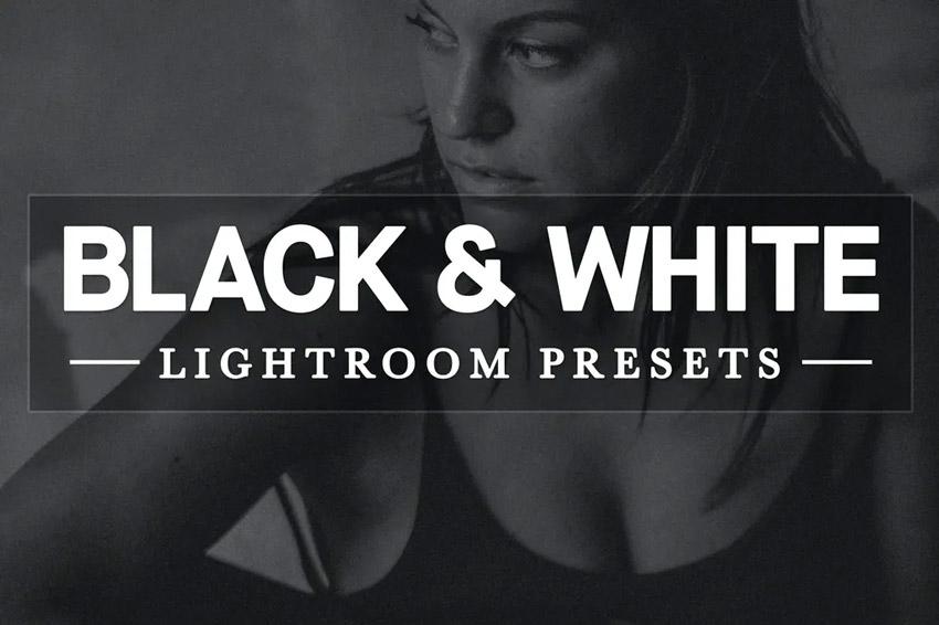 Black white Lightroom Develop presets