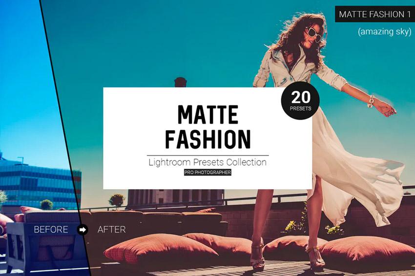Matte fashion Lightroom presets