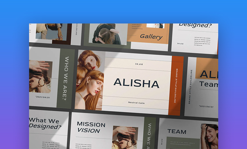 Alisha PPT online template