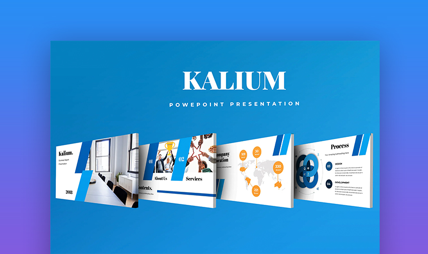 Kalium template to use PowerPoint online