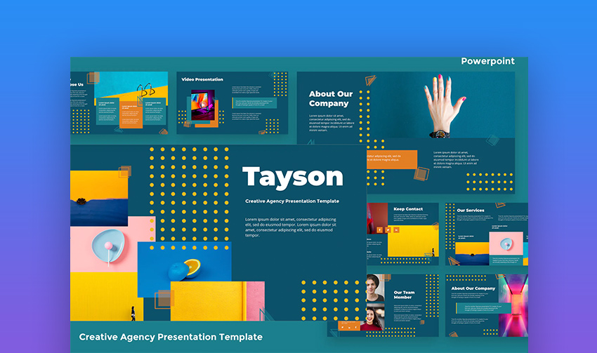 Use PowerPoint online creative agency template