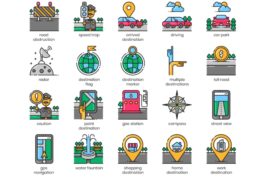 PowerPoint icons library