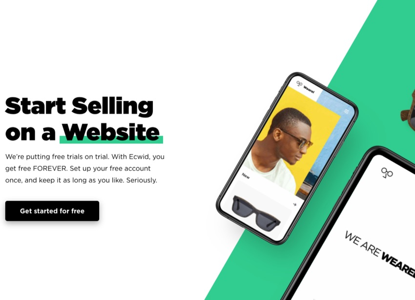 Start selling website Ecwid reviews