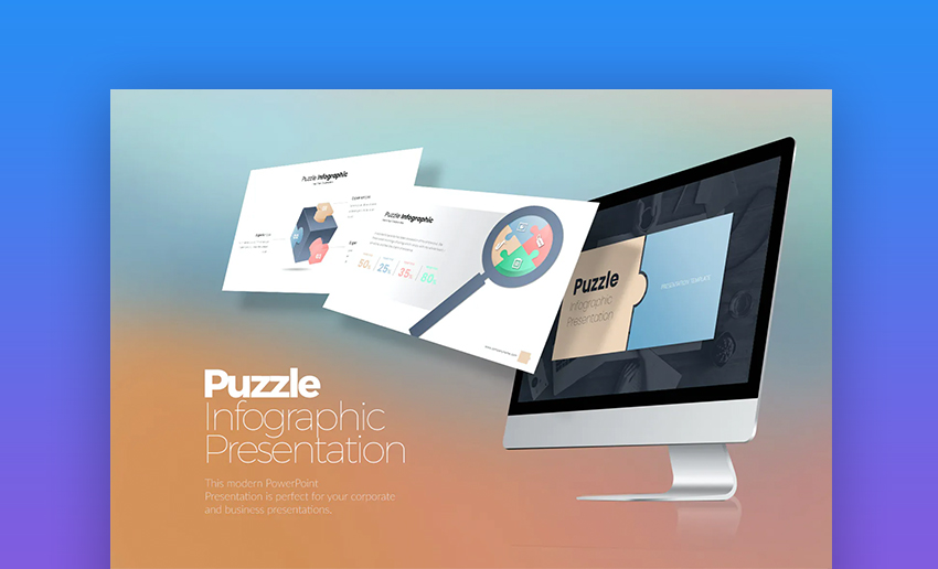 Template create puzzle pieces