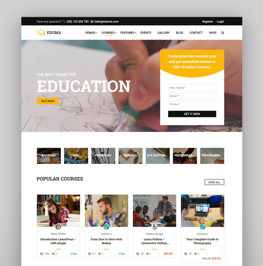Education WordPress Theme  Eduma