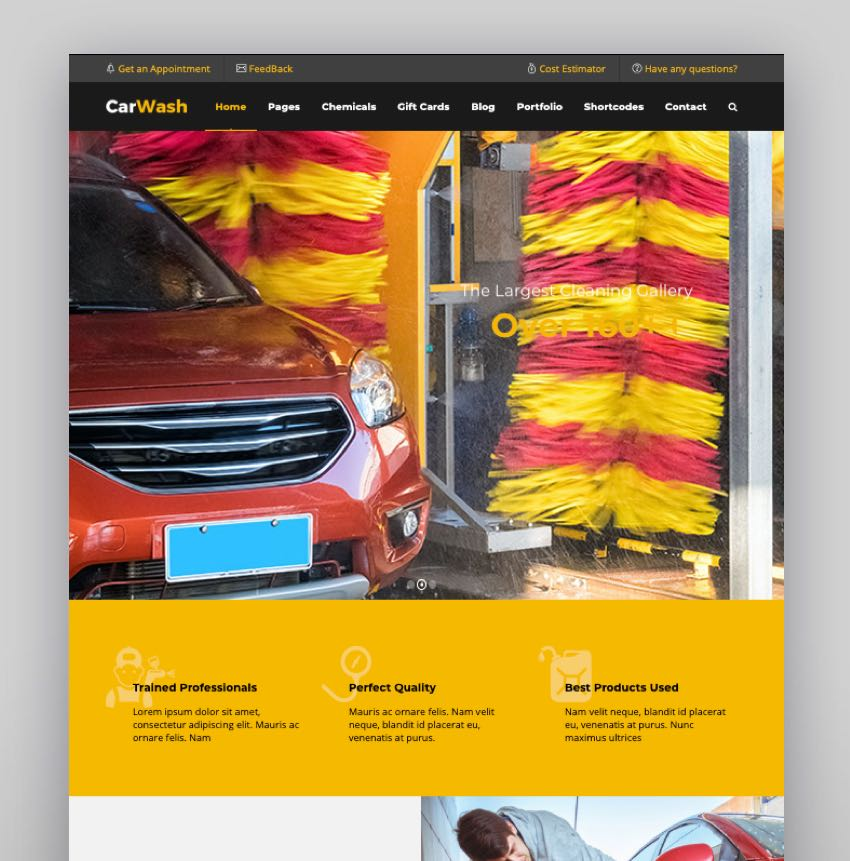Auto Spa Mechanic Theme - Car Wash