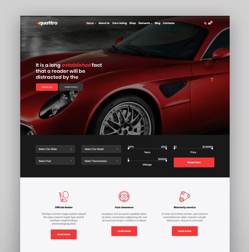 Quattro - Auto Booking  Automotive